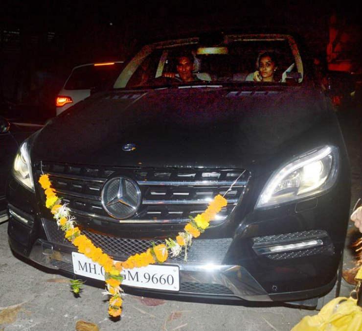 Shraddha Kapoor Mercedes ML suv