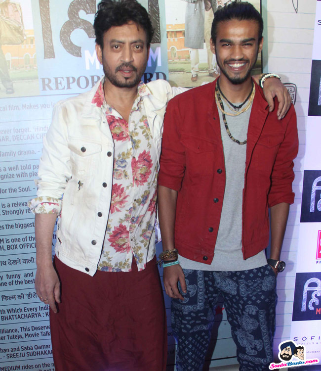 Irrfan khan with Babil Khan