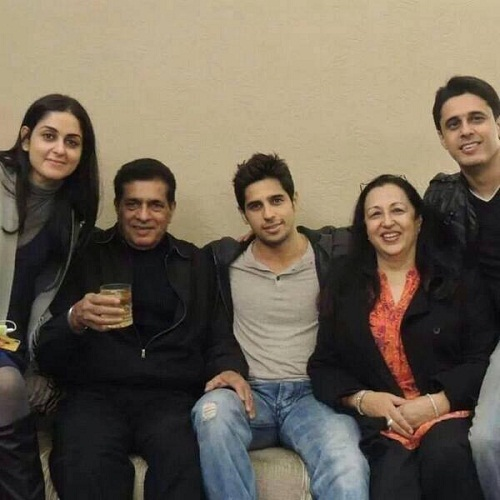 Sidharth Malhotra Family