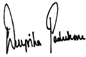 deepika padukone signature