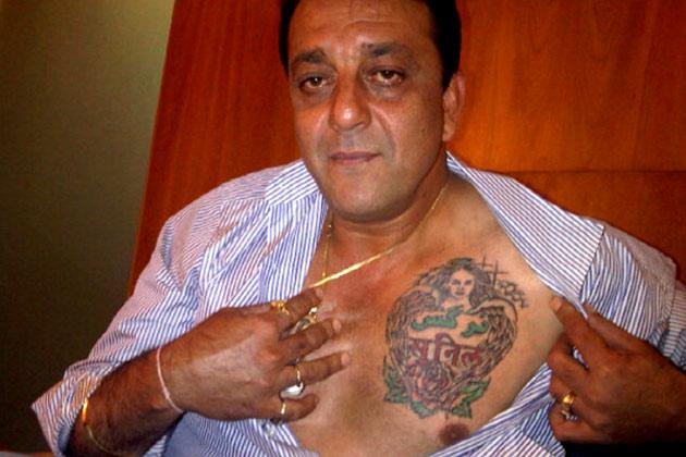 sanjay dutt chest tattoo