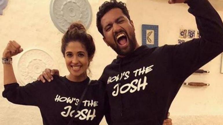 Harleen Sethi and Vicky Kaushal