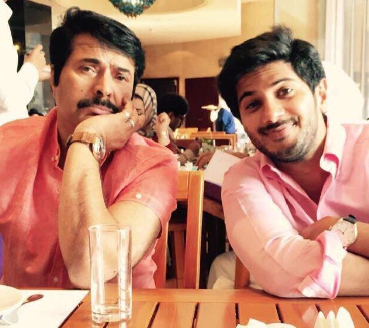 mammootty with dulquer salmaan