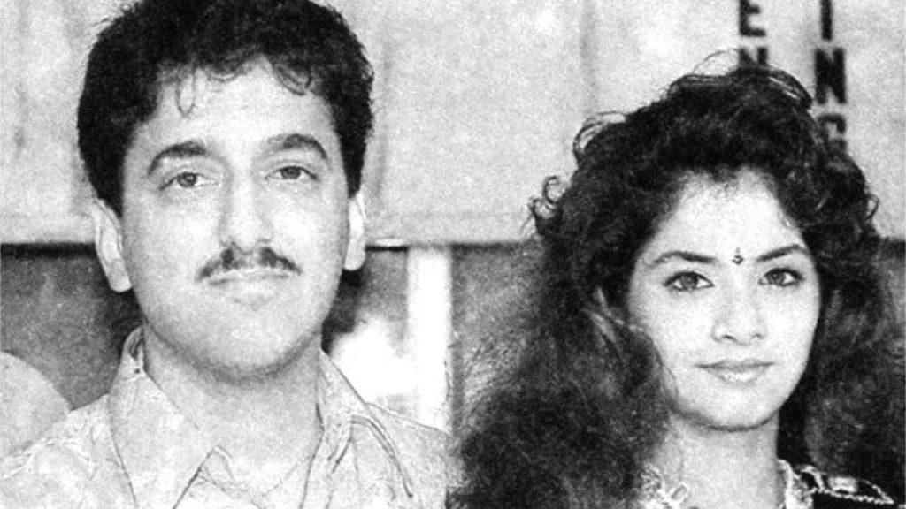 sajid nadiadwala with divya bharti